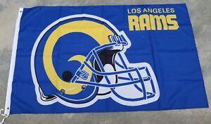 Los Angeles Rams flag Helmet 3ft x 5ft LA Rams flag, banner, Blue Polyester