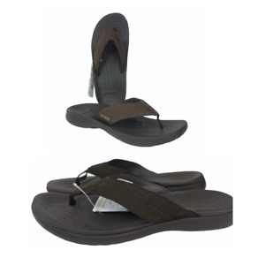Crocs Men's Stylish, soft Santa Cruz Leather / Bogota flip - Sandals size 9 & 10