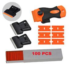 2 Size Mini Scraper & Spare Plastic Blades Window Scraping Pocket Paint Remover