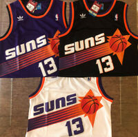 Steve Nash #13 Phoenix Suns Mens Purple/White/Black Throwback Stitched Jersey