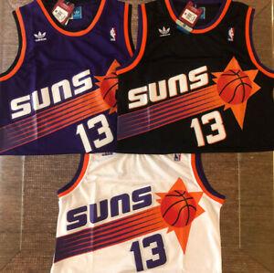 Steve Nash #13 Phoenix Suns Mens Purple/White/Black Throwback Stitched Jersey