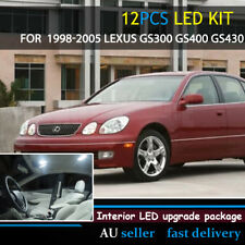 White Upgrade Interior Canbus Light LED Kit For 1998-05 Lexus GS300 GS400 GS430