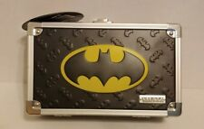 Batman Vaultz Locking Storage Pencil Box With Yellow Emblem *New*