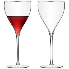 LSA Savoy Wine Glass 450ml Platinum - Pair