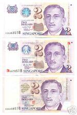 SIN PORTRAIT $2 POLYMER PAPER MILLENNIUM TRIPLET SET