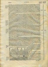 ASIA - EUROPA. Incisione originale. Foresti anno 1535