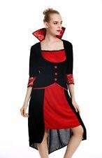 Costume Women's Halloween Carnival Bad Fee Vampire Dress Black Red M