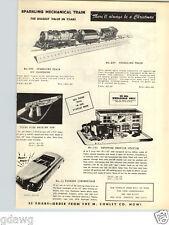 1949 PAPER AD Toy Sparkling Mechanical Toys Machine Gun Keystone Service Station