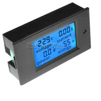 50A DC Digital LCD Power Panel Meter Monitor Power Energy Voltmeter Ammeter