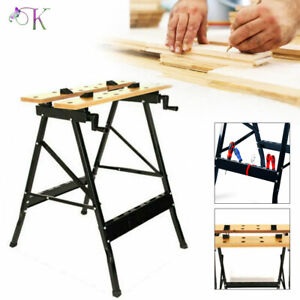 Work Bench Table DIY Portable Folding Workbench Workmate With Clamping Vice UK