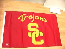 """New listing University of Southern California Trojans Sc pennant Fan Cave sign 3"""" x 5"""" flag"""