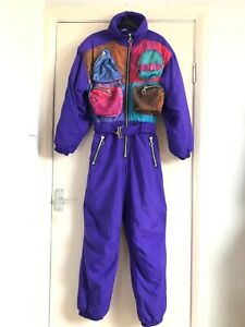 Vintage Rodeo Ski Suit Snowboarding All In One With Chest Pockets 80s 90s UK 12