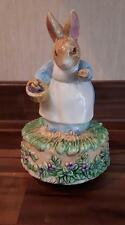 Schmid Beatrix Potter Mrs Rabbit Musical Figurine