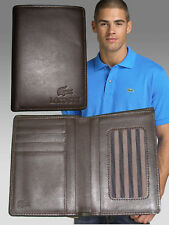 New Vintage LACOSTE City Classic (20) LEATHER WALLET Doc & CC Holder Brown
