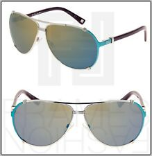 CHRISTIAN DIOR CHICAGO 2 Emerald Green Mirror Burgundy Aviator Sunglasses 1QW3U