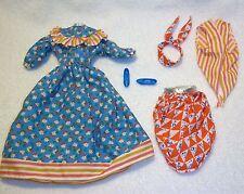 OOBF-Barbie-04647-Fashion Only-Ensemble-Dress, Apron, Vest, Scarf & Shoes