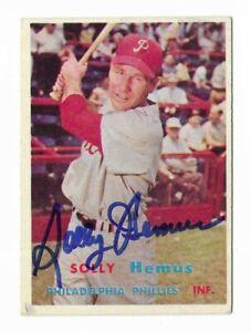 1957 Topps #231 Solly Hemus (d. 2017) Philadelphia Phillies SIGNED COA