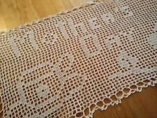 UNIQUE Words 'Mother's Day' Rose & Cup Vintage Filet Hand Crochet Sandwich Doily
