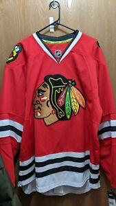 Chicago Blackhawks Reebok Authentic Indo Edge 7231 Home Jersey