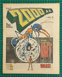 Bagged & Boarded 2000 AD Comic Prog 71 - 01 Jul 1978 - Ref 2K207 - Banned Issue