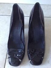 Jones Bootmaker Ladies Black Patent Heeled Shoes Size 38 / 5. Good condition.