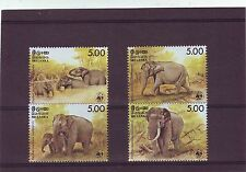 Sri Lankan Elephants Wild Animal Postal Stamps