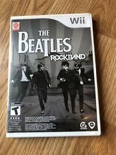 The Beatles Rockband Nintendo Wii Cib Game Case Manual Disk Only H2