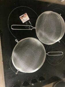 2 Strainer Chef Aid Healthy Steps 24cm metal Mesh Strainer Sieve Chef Aid ,