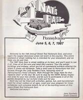 1987 NSRA Nationals East Racing Program (York, PA)