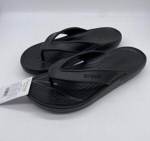 Crocs Classic II Men's Flip Flops Sz 12 Black 206119-001