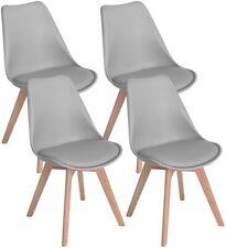 4er Set Esszimmerstühle Skandinavisch Küchenstuhl Stühle Essstühle Grau Buche