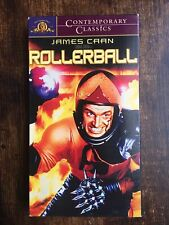 Rollerball (VHS Contemporary Classics) James Caan 1975 Scifi Classic!