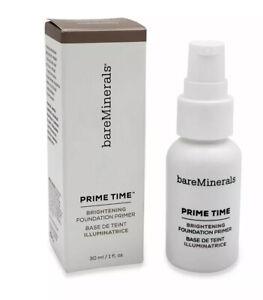 bareMinerals PRIME TIME BRIGHTENING Foundation Primer - Full Size 1.0 oz / 30ml