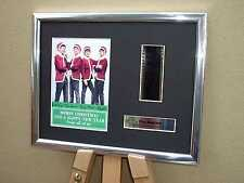 HAPPY CHRISTMAS FROM THE BEATLES SIGNED FRAMED ORIGINAL 35MM FILM CELL