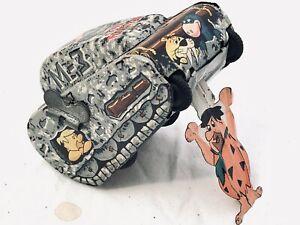 Line Mar Tin Litho The Flintstones Vintage Windup Rollover Tank Toy 1961 works