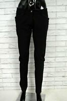 Pantalone PINKO Donna Size 42 Pants Jeans Elastico Slim Nero Femme Woman Femme