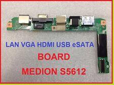 Medion Akoya S5612 MD97930  Power an Knopf USB HDMI VGA LAN Board