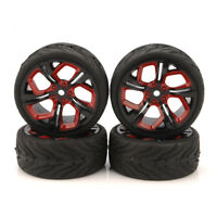 4pcs 62.5mm tires 1/10 RC Racing on road wheel for HSP HPI RC Car  P8NKR rubber