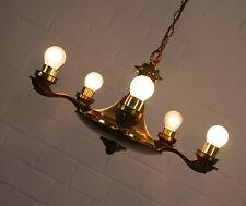 edler Messing Lüster Kronleuchter Deckenlampe 5 flammig Art Deco 30er - 40er J.