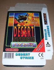 Atari Lynx handheld video game console Desert Strike game BOX only NEW Telegames