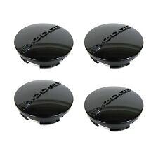 """OEM Black Wheel Center Hub Caps For Dodge Dart Avenger Ram Set of 4 2.5"""" (63MM)"""