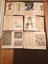 VINTAGE 1940'S FOOTBALL SCRAP BOOK LOT OF 6 BEARS PACKERS 49ERS COLLEGE PAPERS