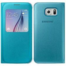 Original Samsung S-View Cover PU Flip Case Hülle EF-CG920P für Galaxy S6 Blau