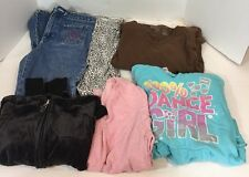 Lot Of Girls 14 Long Sleeve Shirts Sweatshirts Pants Justice Leggings Jeans