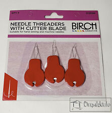 BIRCH Needle Threaders with Cutter Blade