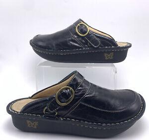 Alegria Seville SEV-101  US 9 9.5 EUR 39 Black Patent Leather Clogs Mules