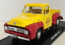Greenlight 1/18 Scale 12983 - 1953 Ford F-100 & Shell Gas Pump - Yellow/Red
