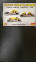 Microtrains PRR three flat car pack with construction loads N Scale 993 01 940