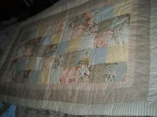PAIR KING FLORAL PRINT QUILTED PATCHWORK SHAMS, COTTAGE, COUNTRY, SHABBY CHIC