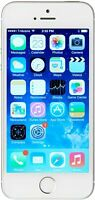 Apple Unlocked for all Carriers iPhone 5s Smartphone, 16GB Silver - Grade B